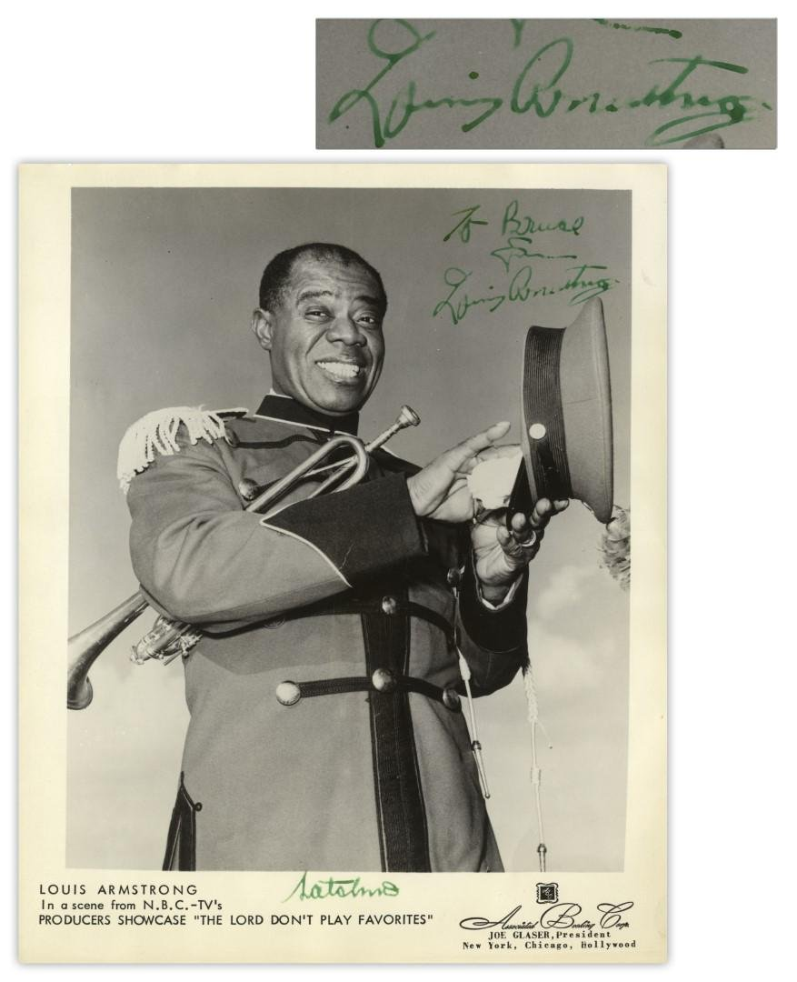 Louis Armstrong Satchmo Signed 8''x10'' Photo