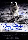 Buzz Aldrin and Michael Collins Signed 20'' x 16''