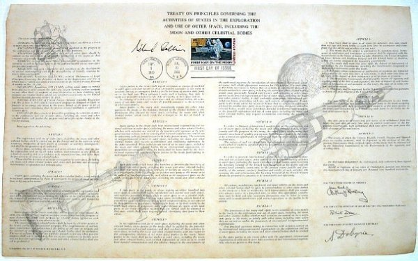 2: Document Signed Astronaut Michael Collins Apollo 11