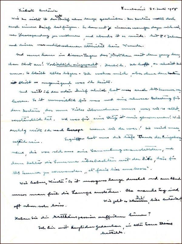 4: Albert Schweitzer Handwritten Letter Tissue Paper