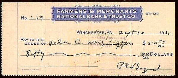 5: Richard E Byrd Aviator Explorer Signed Bank Check Si