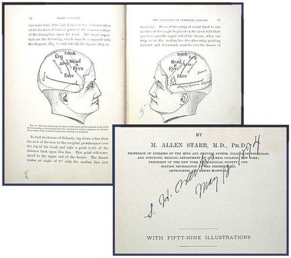 8: 1893 Brain Surgery M Allen Star Book Neurosurgeon Ra