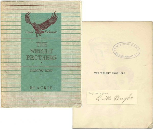 9: Orville Wright Clipped Signature Brothers Book 1954