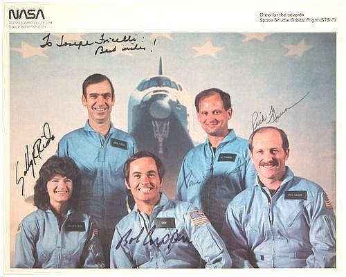 10: Sally Ride Signed Bob Crippen Norm Thagard Rick Hau