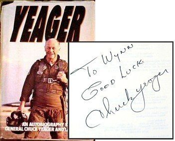 12: 1985 Inscribed Signed Chuck Yeager Autobiography Bo