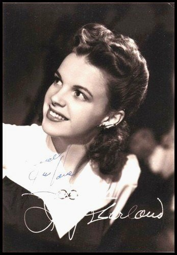 23: Judy Garland Photograph Signed Autograph Signature