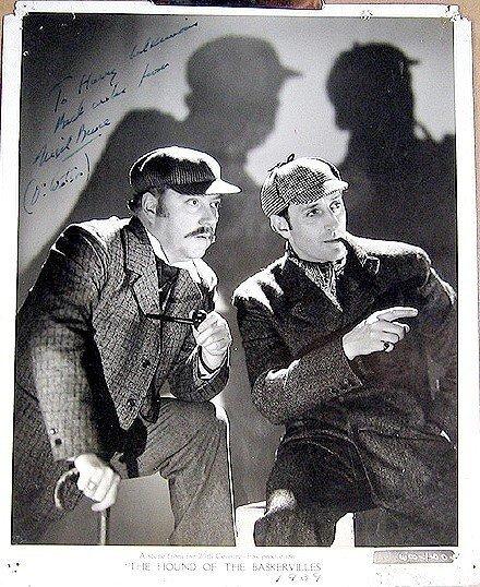 24: Signed Photo Nigel Bruce Watson Sherlock Holmes