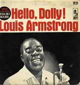 55 Louis Armstrong Signed LP Cover Signature Autograph