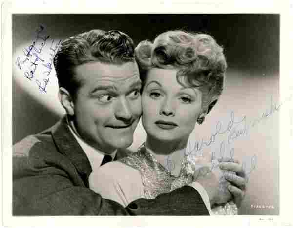 72: Lucille Ball Red Skelton Photo Signed Signature Sig