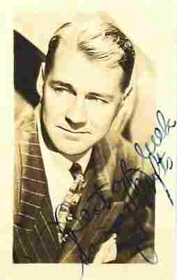 93: Sonny Tufts Signed Photo Inscribed Signature Sig