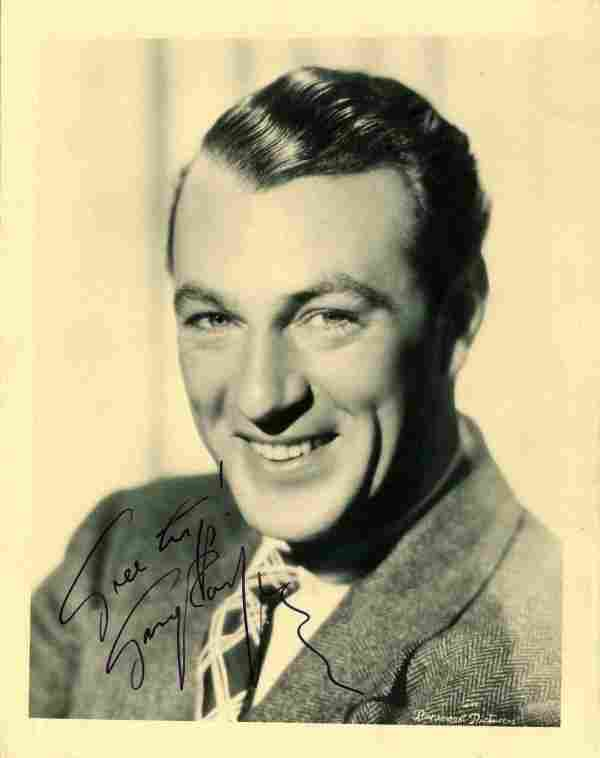 128: Gary Cooper Signed Photo Autograph Signature Sig