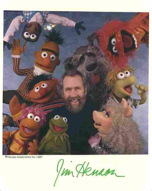 132: Jim Henson Signed Photo Autograph Signature Sig