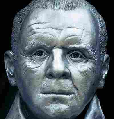 133: Anthony Hopkins Life Mask Hannibal Lecter Statue