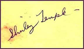 151 Shirley Temple Album Page Signed Autograph Sig