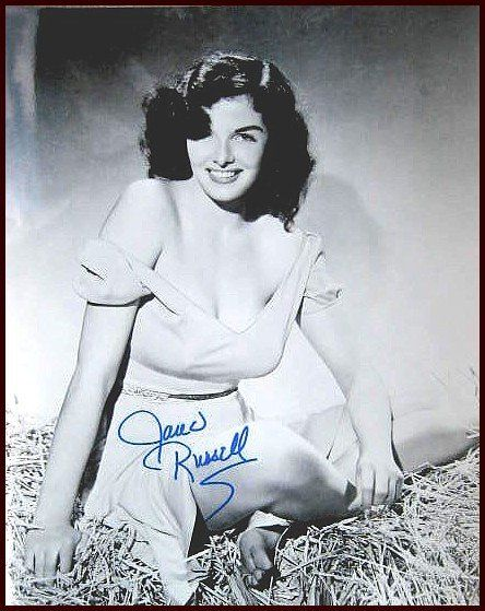 170: Jane Russell Signed Photo Autograph Signature Sig