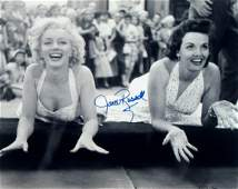191 Jane Russell Signed Photo Marilyn Monroe Signature