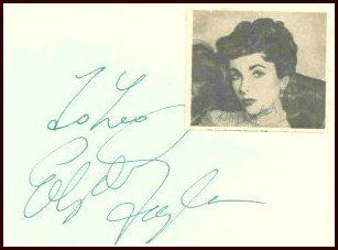 199: Elizabeth Taylor Album Page Signed Autograph Sig