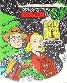 329: Rip Kirby Christmas Card Alex Raymond 1951