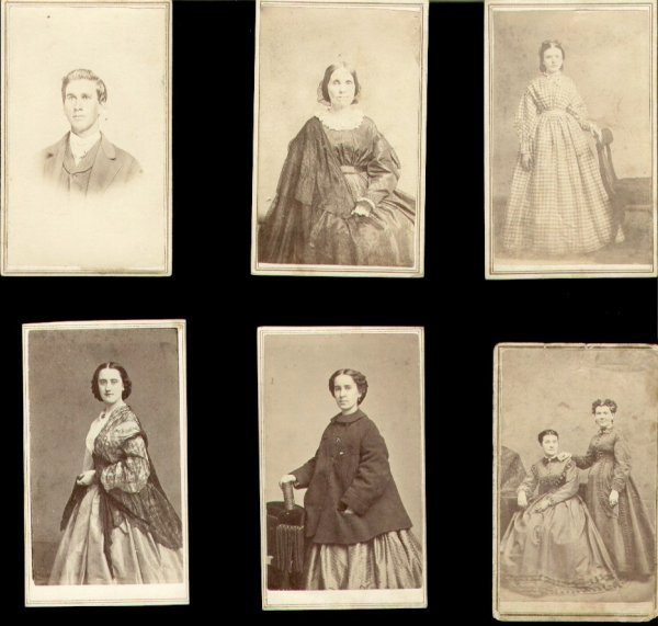 450: Civil War CDV Four Women One Man Photo Images
