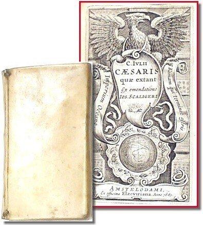 594: 1635 The Works of Julius Caesar Book 1 Volume Lati