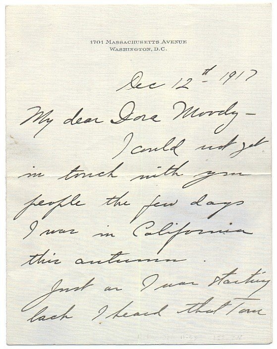 595: Rare First Lady Lou Henry Hoover Handwritten Lette