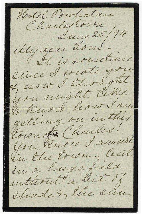 596: Harriet Johnston Autograph Letter Signed President