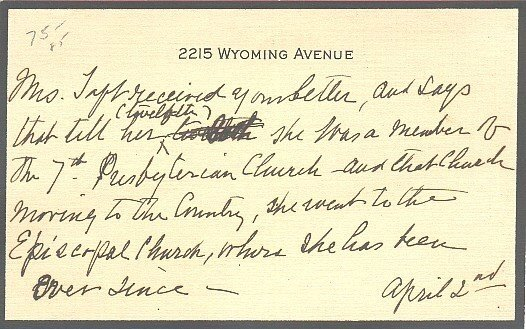 607: First Lady Helen Taft Autograph Letter Signature W