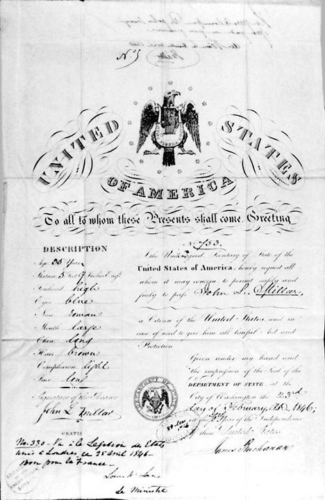 608: James Buchanan Document Signed Secretary of State