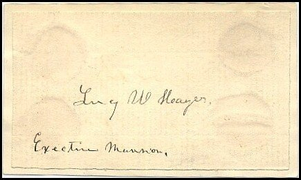 610: First Lady Lucy Hayes Signed Note Card Autograph S