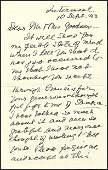 624: Autograph Signed Letter First Lady Frances Clevela