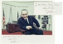 634: President Lyndon B. Johnson Autograph Photo Signat
