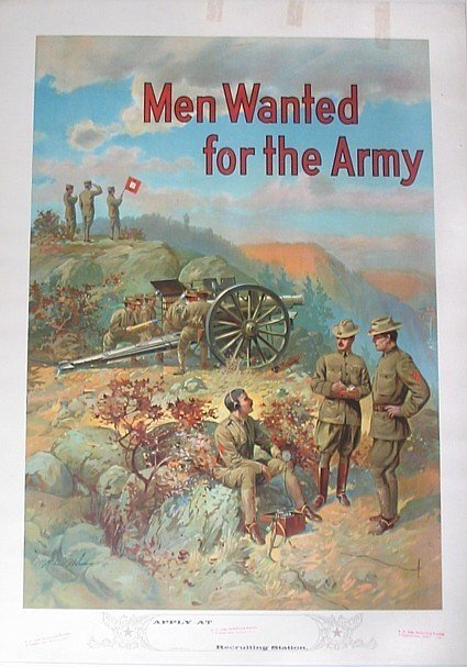 799: WWI Color Poster Panoramic Landscape Michael Whale