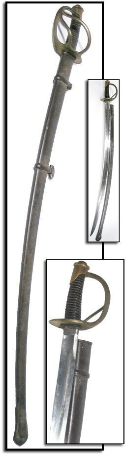 987: 1857 Ames Cavalry Saber Civil War Weapon Period Sw