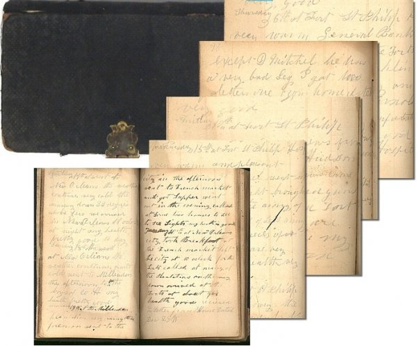 988: Civil War Diary Fort St Philips Soldier Diary Lett