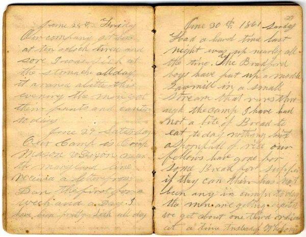 993: Civil War Diary Lewisburg PA Lincoln Battle Conten