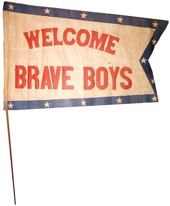 996: Civil War Banner Soldier Parade 1860 CW