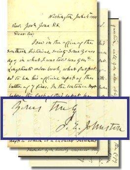 997: Confederate Battle Content ALS Authograph Letter C