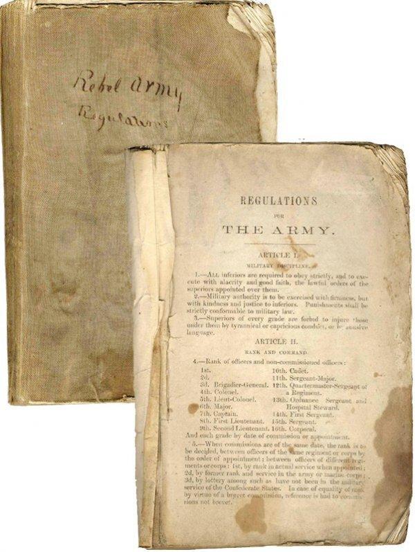 999: CW Confederate Army Regulation Manual Book