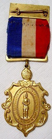 1000: 1866 CW Service Medal Brooklyn War Soldier Image