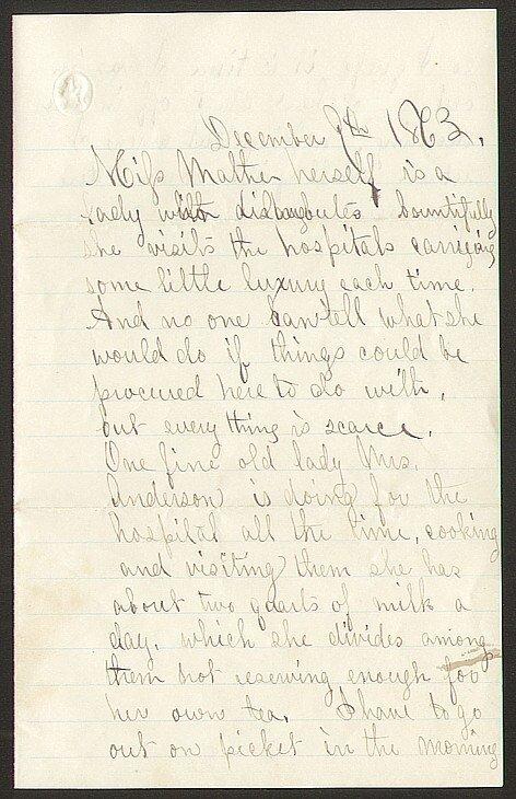 1002: CW Soldier Letter St. Augustine 1863 Civil War