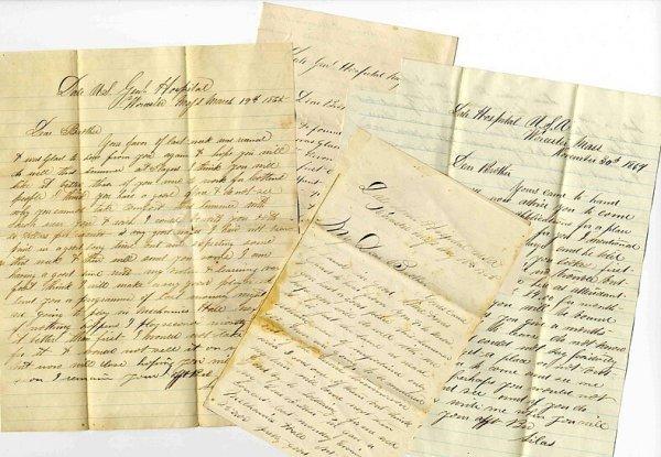 1006: CW Letters 1864-5 Dale Hospital Soldier Letter Ci