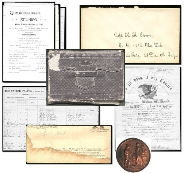 1008: CW Diary Soldier Letter Civil War Coin Discharge