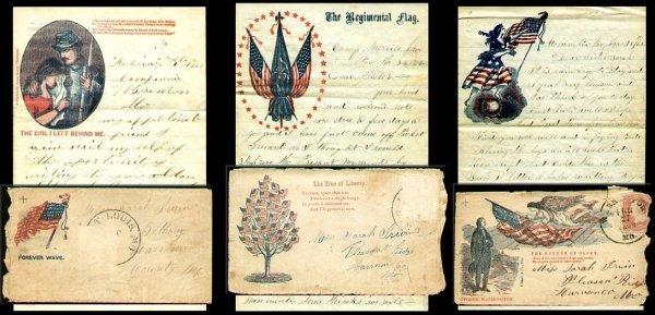 1011: 1862 Civil War Letters Covers Missouri Soldier Ba