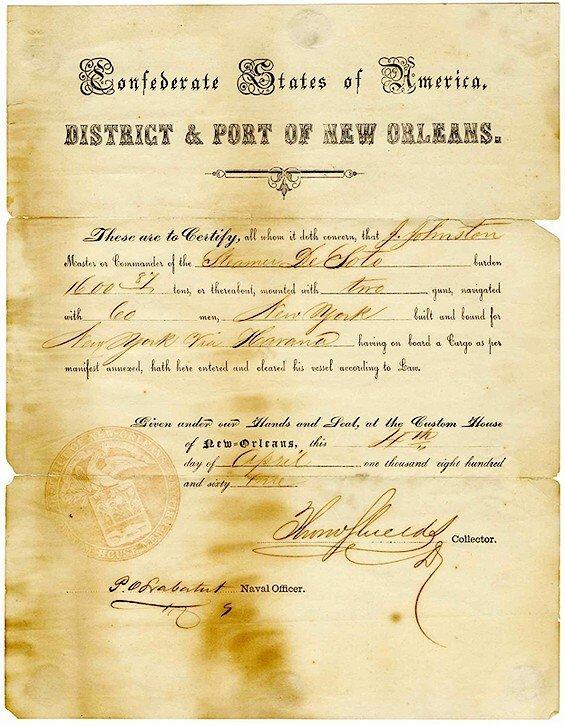 1208: Confederate Naval Document Civil War ALS Signed