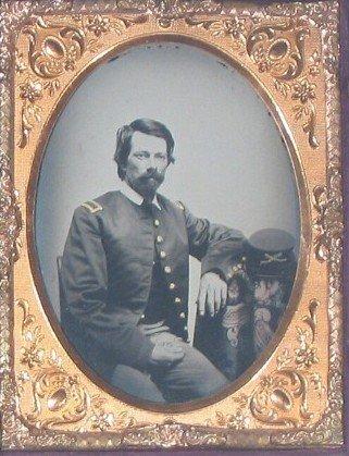 1768: Fourth-Plate Civil War Officer Ambrotype Identifi