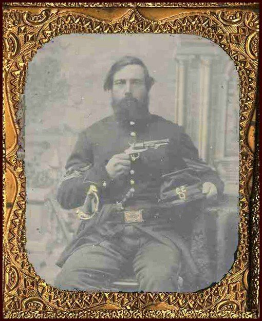 1769: Civil War Ambrotype Armed 59th NY Soldier Photo P