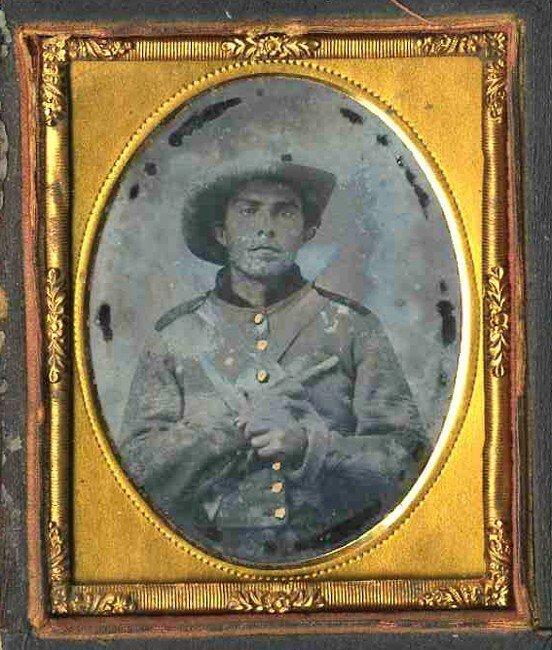 1771: Civil War Ninth-Plate Ambrotype Confederate Caval