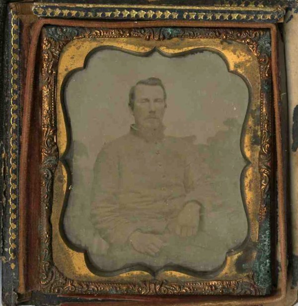 1774: Civil War Confederate Ambrotype Ornate Cover CW