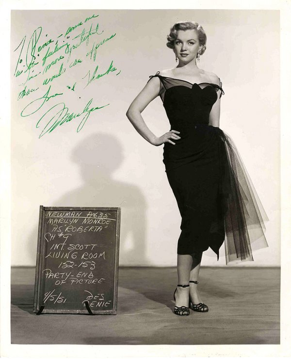 1: Marilyn Monroe Signed Photograph Sig Photo Autograph