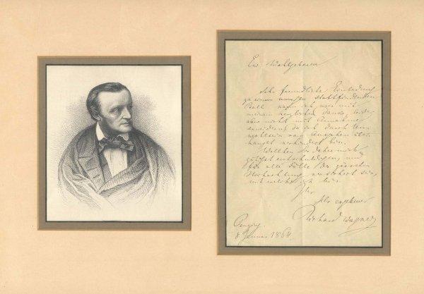 4: Richard Wagner Autograph Letter Signed 1864
